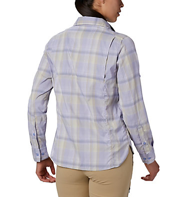 Women's Silver Ridge™ Lite Plaid Long Sleeve Shirt Silver Ridge™ Lite Plaid LS Shirt | 035 | L, Twilight Medium Multi Plaid, back