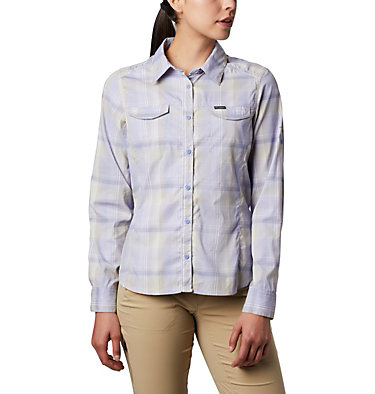 Women's Silver Ridge™ Lite Plaid Long Sleeve Shirt Silver Ridge™ Lite Plaid LS Shirt | 035 | L, Twilight Medium Multi Plaid, front