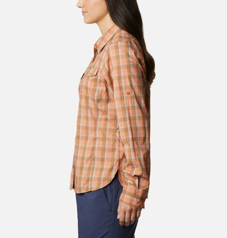 Silver Ridge™ Lite Plaid LS Shirt | 604 | XL Women's Silver Ridge™ Lite Plaid Long Sleeve Shirt, Nova Pink Plaid, a1