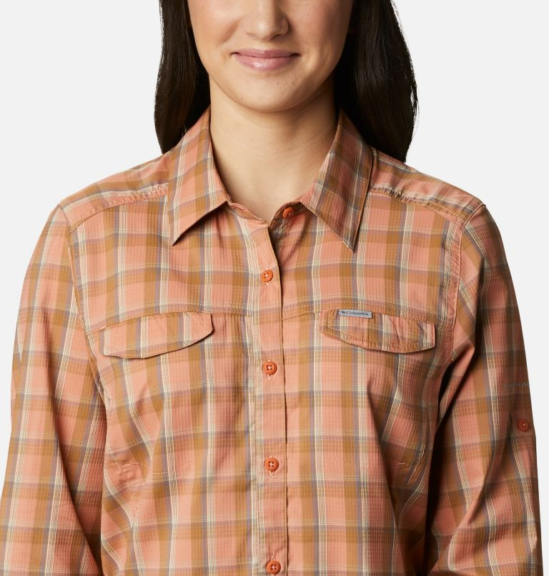 Silver Ridge™ Lite Plaid LS Shirt | 604 | S Women's Silver Ridge™ Lite Plaid Long Sleeve Shirt, Nova Pink Plaid, a2