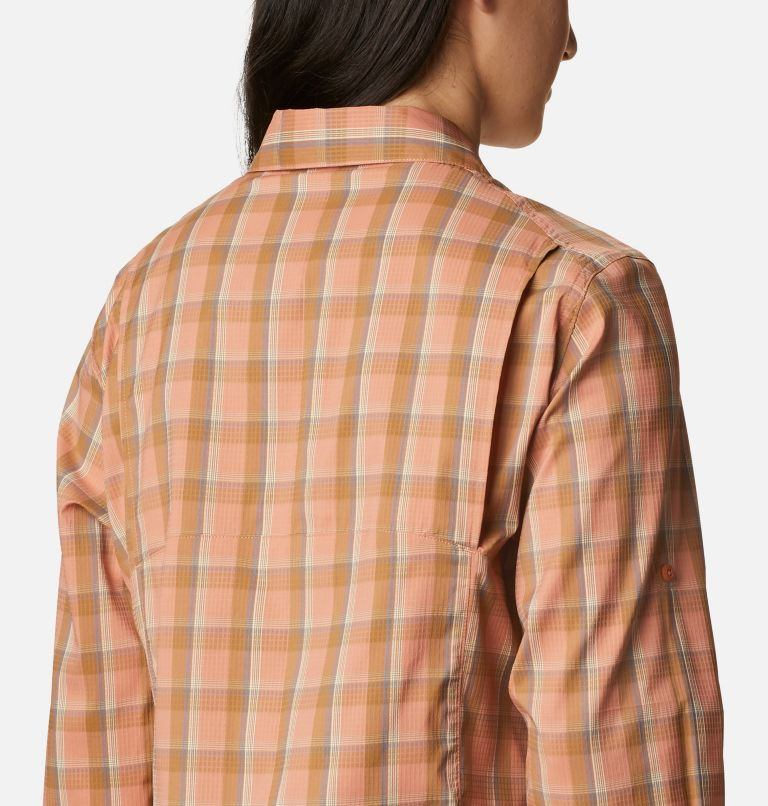 Silver Ridge™ Lite Plaid LS Shirt | 604 | XL Women's Silver Ridge™ Lite Plaid Long Sleeve Shirt, Nova Pink Plaid, a3