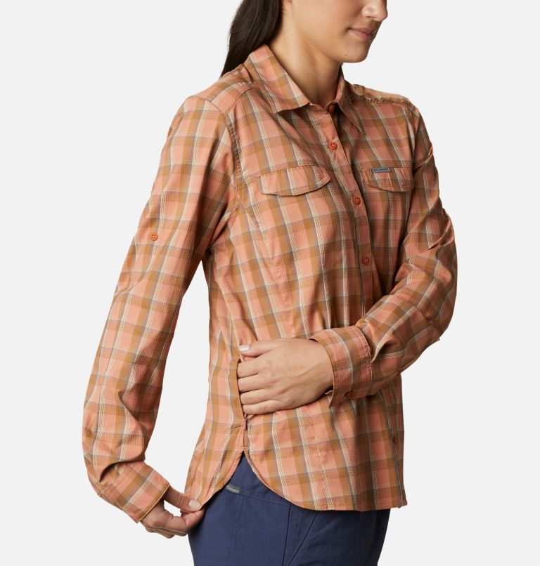 Silver Ridge™ Lite Plaid LS Shirt | 604 | S Women's Silver Ridge™ Lite Plaid Long Sleeve Shirt, Nova Pink Plaid, a4