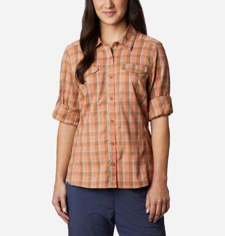 Silver Ridge™ Lite Plaid LS Shirt | 604 | S Women's Silver Ridge™ Lite Plaid Long Sleeve Shirt, Nova Pink Plaid, a5