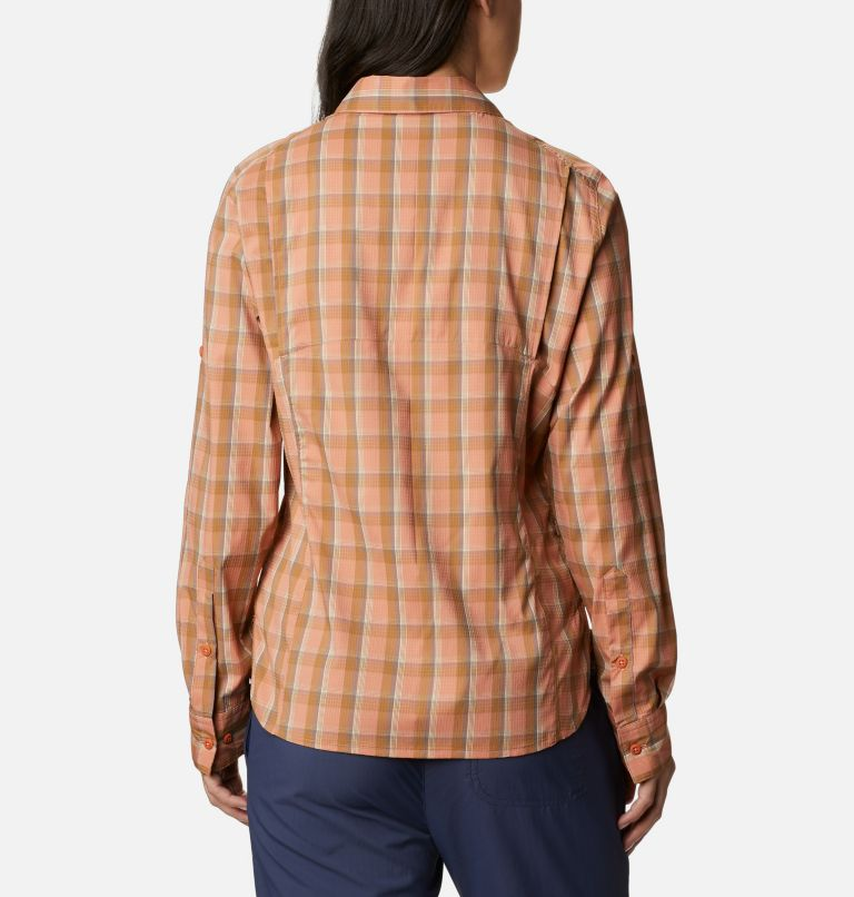 Silver Ridge™ Lite Plaid LS Shirt | 604 | XL Women's Silver Ridge™ Lite Plaid Long Sleeve Shirt, Nova Pink Plaid, back