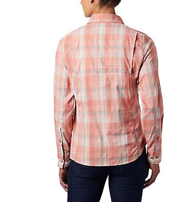 Women's Silver Ridge™ Lite Plaid Long Sleeve Shirt Silver Ridge™ Lite Plaid LS Shirt | 035 | L, Dark Coral Medium Multi Plaid, back