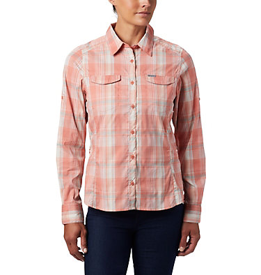 Women's Silver Ridge™ Lite Plaid Long Sleeve Shirt Silver Ridge™ Lite Plaid LS Shirt | 035 | L, Dark Coral Medium Multi Plaid, front