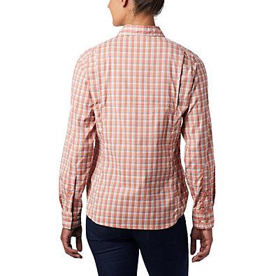Women's Silver Ridge™ Lite Plaid Long Sleeve Shirt Silver Ridge™ Lite Plaid LS Shirt   035   L, Cedar Blush Gingham Plaid, back