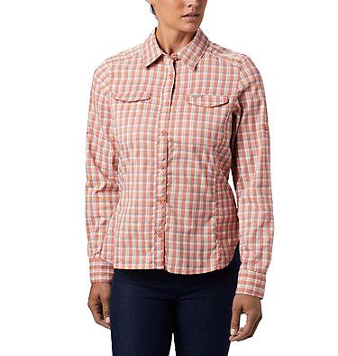Women's Silver Ridge™ Lite Plaid Long Sleeve Shirt Silver Ridge™ Lite Plaid LS Shirt   035   L, Cedar Blush Gingham Plaid, front