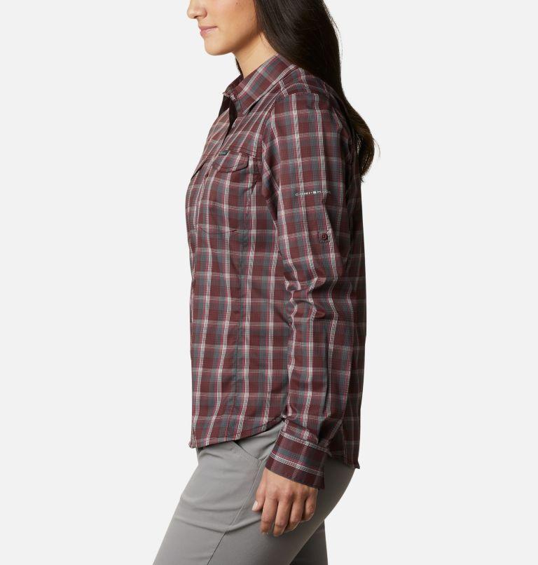 Silver Ridge™ Lite Plaid LS Shirt | 671 | S Women's Silver Ridge™ Lite Plaid Long Sleeve Shirt, Malbec Plaid, a1