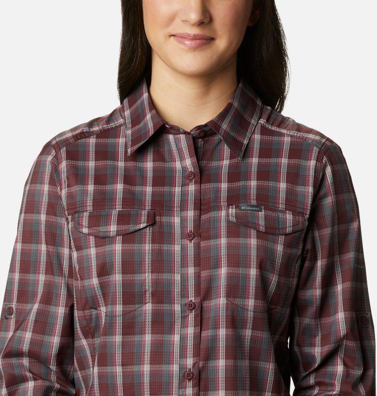 Silver Ridge™ Lite Plaid LS Shirt | 671 | S Women's Silver Ridge™ Lite Plaid Long Sleeve Shirt, Malbec Plaid, a2