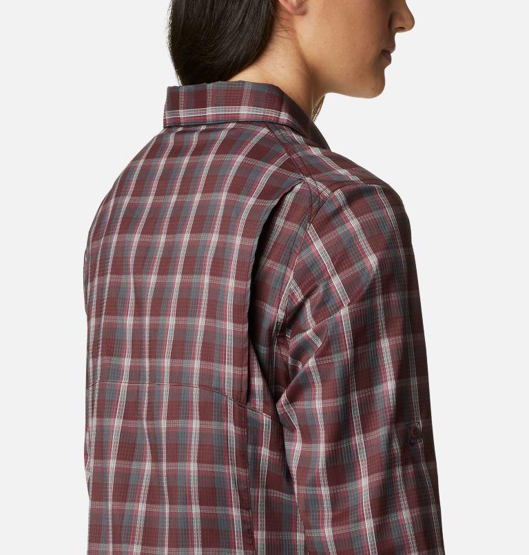 Silver Ridge™ Lite Plaid LS Shirt | 671 | S Women's Silver Ridge™ Lite Plaid Long Sleeve Shirt, Malbec Plaid, a3