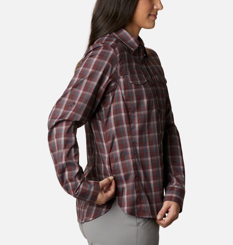 Silver Ridge™ Lite Plaid LS Shirt | 671 | S Women's Silver Ridge™ Lite Plaid Long Sleeve Shirt, Malbec Plaid, a4