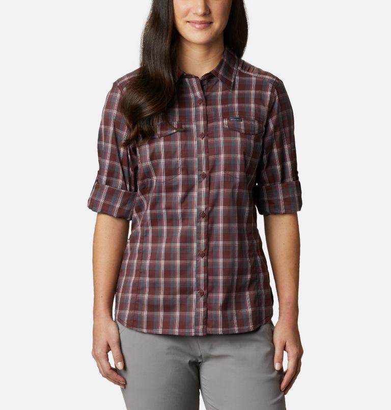 Silver Ridge™ Lite Plaid LS Shirt | 671 | S Women's Silver Ridge™ Lite Plaid Long Sleeve Shirt, Malbec Plaid, a5