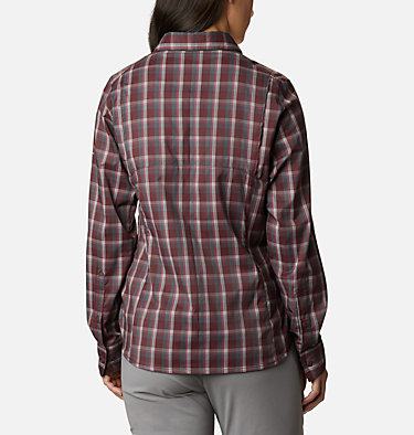 Women's Silver Ridge™ Lite Plaid Long Sleeve Shirt Silver Ridge™ Lite Plaid LS Shirt | 035 | L, Malbec Plaid, back