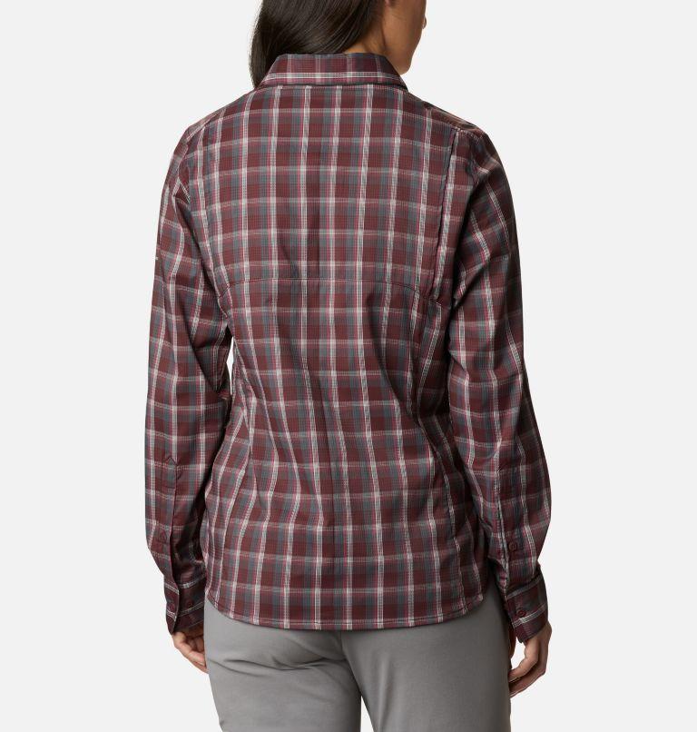 Silver Ridge™ Lite Plaid LS Shirt | 671 | S Women's Silver Ridge™ Lite Plaid Long Sleeve Shirt, Malbec Plaid, back