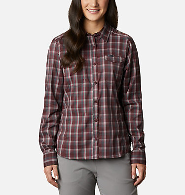 Women's Silver Ridge™ Lite Plaid Long Sleeve Shirt Silver Ridge™ Lite Plaid LS Shirt | 035 | L, Malbec Plaid, front