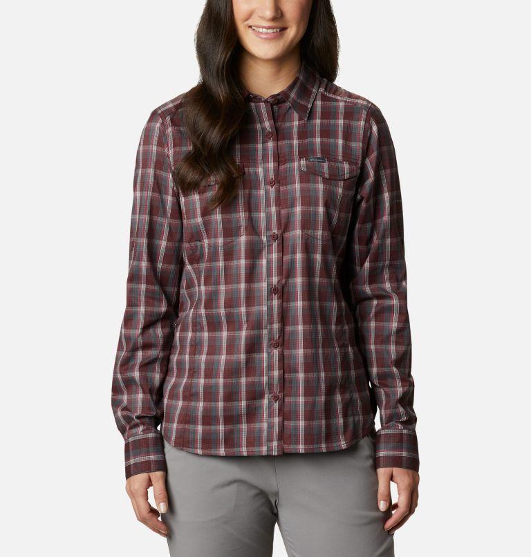 Silver Ridge™ Lite Plaid LS Shirt | 671 | S Women's Silver Ridge™ Lite Plaid Long Sleeve Shirt, Malbec Plaid, front
