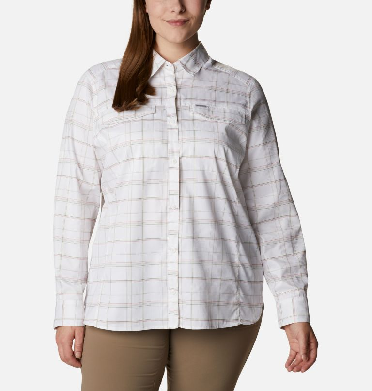 Women's Silver Ridge™ Lite Plaid Long Sleeve Shirt – Plus Size Women's Silver Ridge™ Lite Plaid Long Sleeve Shirt – Plus Size, front