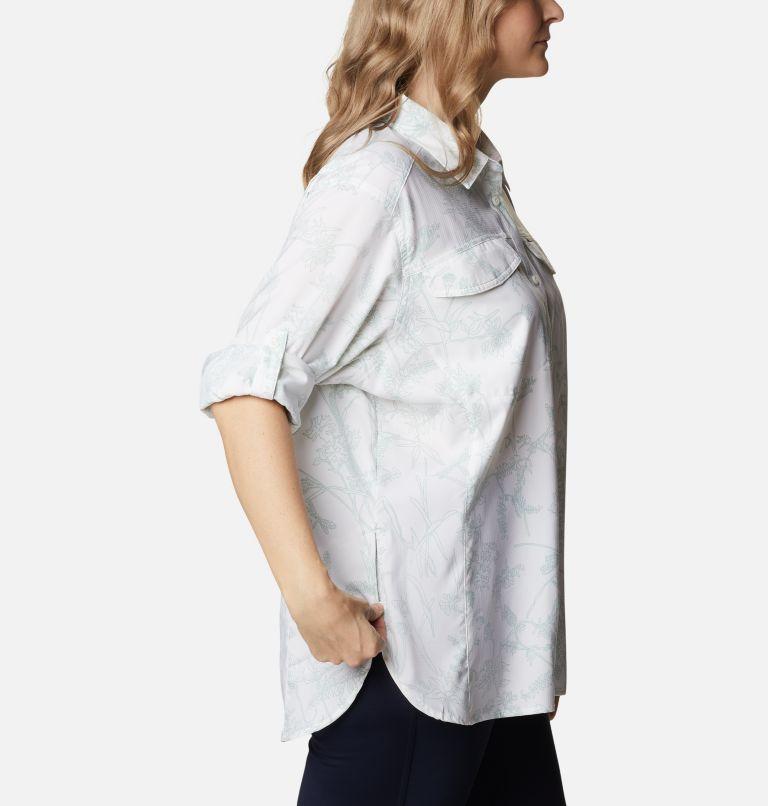Silver Ridge™ Lite Plaid LS Shirt | 104 | 1X Women's Silver Ridge™ Lite Plaid Long Sleeve Shirt – Plus Size, White Art Bouquet, a4