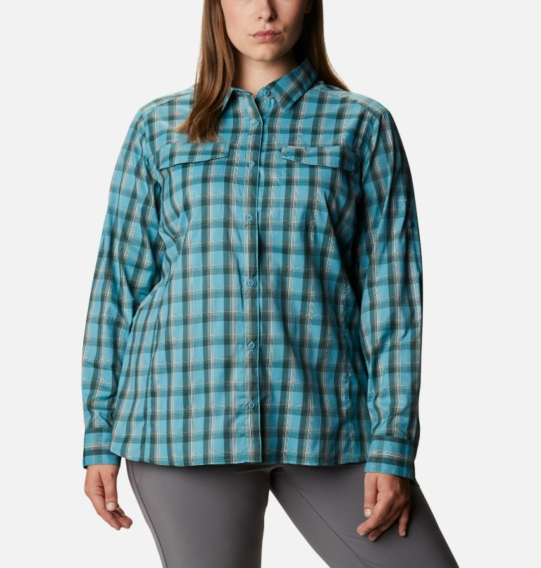 Women's Silver Ridge™ Lite Plaid Long Sleeve Shirt – Plus Size Women's Silver Ridge™ Lite Plaid Long Sleeve Shirt – Plus Size, front