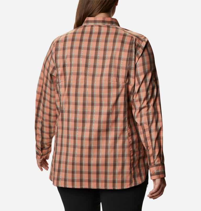 Women's Silver Ridge™ Lite Plaid Long Sleeve Shirt – Plus Size Women's Silver Ridge™ Lite Plaid Long Sleeve Shirt – Plus Size, back