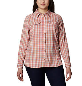 Women's Silver Ridge™ Lite Plaid Long Sleeve Shirt – Plus Size