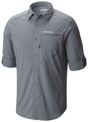 NEW COLUMBIA Men's TWISTED CREEK Short Sleeve Shirt ZINC XL