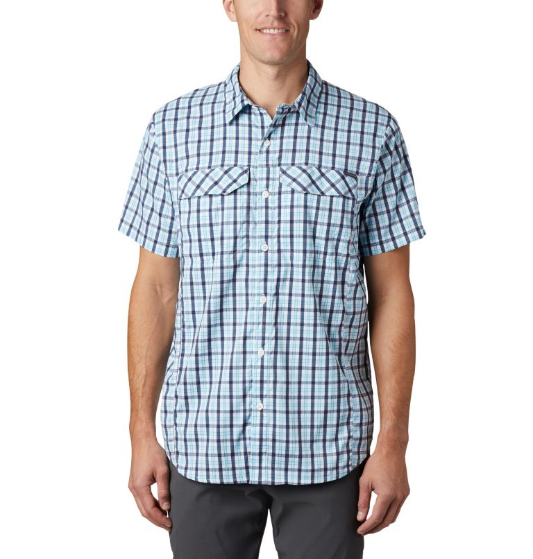 Silver Ridge Lite Plaid™ Short Sleeve | 466 | XL Men's Silver Ridge Lite Plaid™ Short Sleeve, Collegiate Navy Gingham, front