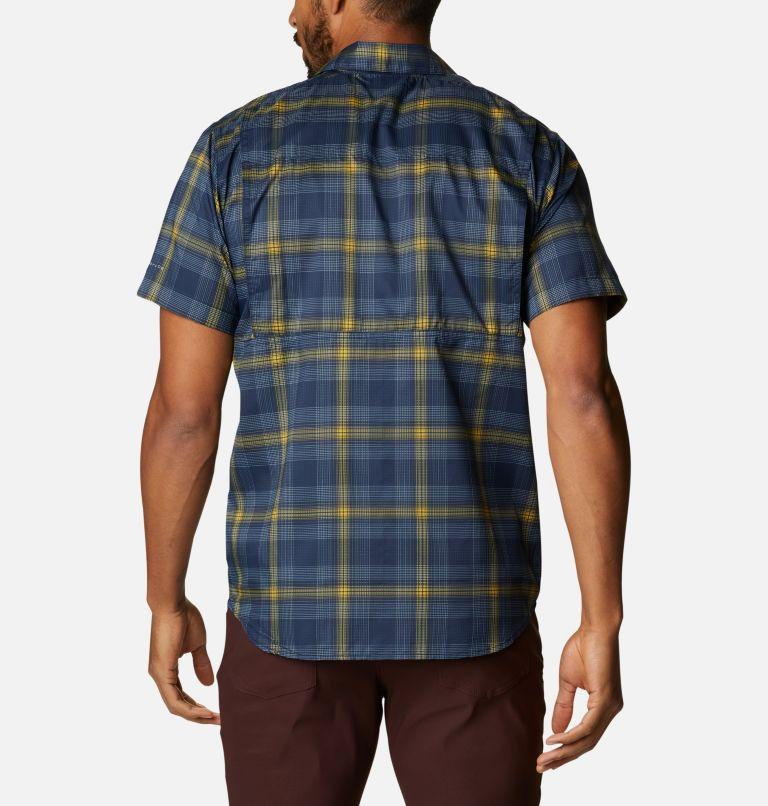 Silver Ridge Lite Plaid™ Short Sleeve | 468 | XXL Men's Silver Ridge Lite Plaid™ Short Sleeve, Collegiate Navy Large Plaid, back