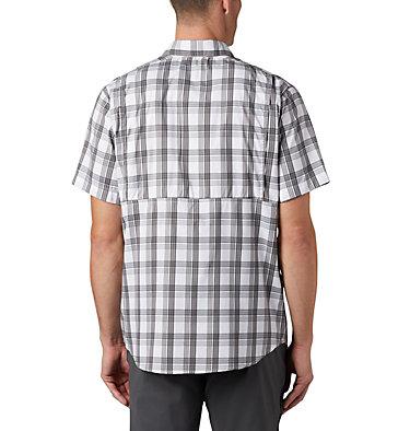 Men's Silver Ridge Lite Plaid™ Short Sleeve – Big Silver Ridge Lite Plaid™ Short Sleeve | 466 | 1X, City Grey Grid Plaid, back