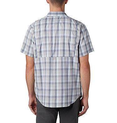Men's Silver Ridge Lite Plaid™ Short Sleeve – Big Silver Ridge Lite Plaid™ Short Sleeve | 466 | 1X, Columbia Grey Grid Plaid, back