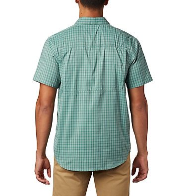 Men's Silver Ridge Lite Plaid™ Short Sleeve – Big Silver Ridge Lite Plaid™ Short Sleeve | 466 | 1X, Thyme Green Gingham, back