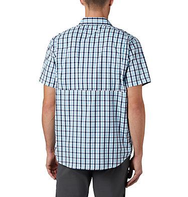 Men's Silver Ridge Lite Plaid™ Short Sleeve – Big Silver Ridge Lite Plaid™ Short Sleeve | 466 | 1X, Collegiate Navy Gingham, back