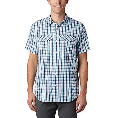 Men's Silver Ridge Lite Plaid™ Short Sleeve – Big Silver Ridge Lite Plaid™ Short Sleeve | 466 | 1X, Collegiate Navy Gingham, front