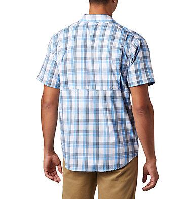 Men's Silver Ridge Lite Plaid™ Short Sleeve – Big Silver Ridge Lite Plaid™ Short Sleeve | 466 | 1X, Azure Blue Grid Plaid, back