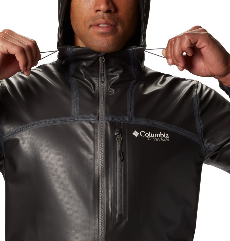 OutDry Ex™ Stretch Hooded Shel | 010 | S Men's OutDry™ Ex Stretch Hooded Shell, Black, a1