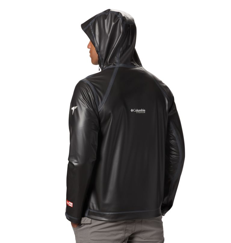 OutDry Ex™ Stretch Hooded Shel | 010 | S Men's OutDry™ Ex Stretch Hooded Shell, Black, back