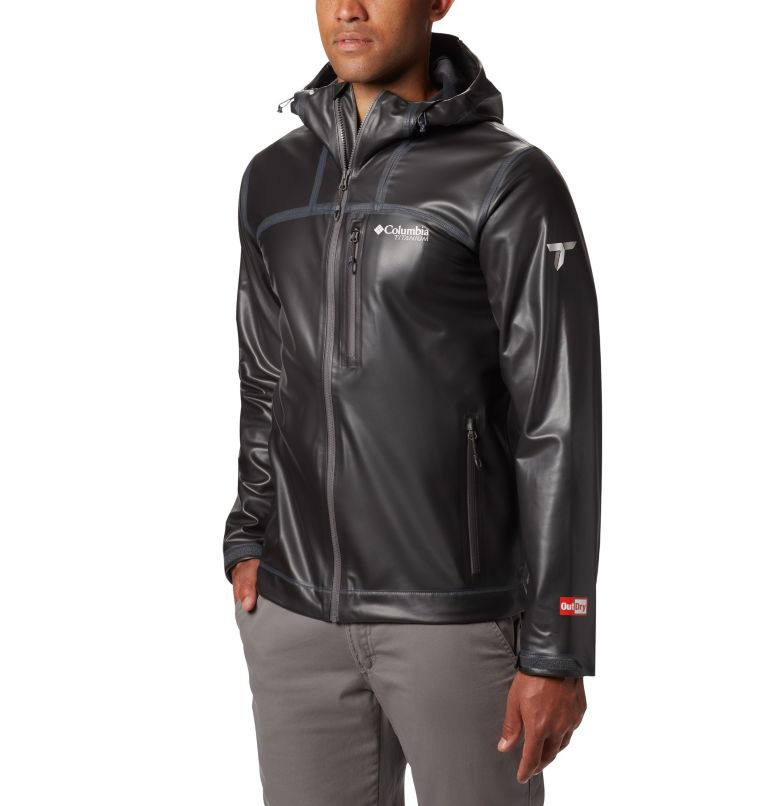 OutDry Ex™ Stretch Hooded Shel | 010 | S Men's OutDry™ Ex Stretch Hooded Shell, Black, front