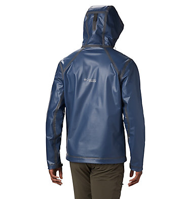 Men's OutDry™ Ex Stretch Hooded Shell OutDry Ex™ Stretch Hooded Shel | 010 | L, Collegiate Navy Ripstop Print, back