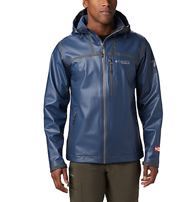 Men's OutDry™ Ex Stretch Hooded Shell OutDry Ex™ Stretch Hooded Shel | 010 | L, Collegiate Navy Ripstop Print, front