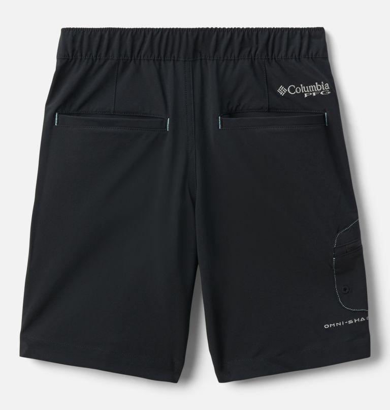 Terminal Tackle™ Short | 011 | XS Boys' PFG Terminal Tackle™ Shorts, Black, White Stitching, back