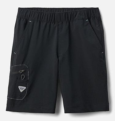 Boys' PFG Terminal Tackle™ Shorts Terminal Tackle™ Short   022   L, Black, White Stitching, front