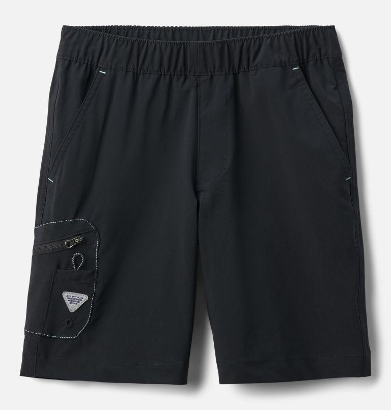 Terminal Tackle™ Short | 011 | XS Boys' PFG Terminal Tackle™ Shorts, Black, White Stitching, front