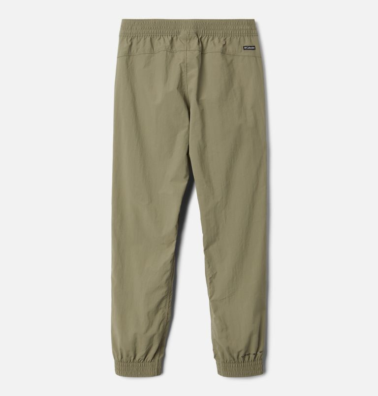 Silver Ridge™ Pull-On Banded Pant | 397 | M Girls' Silver Ridge™ Pull-On Banded Pant, Stone Green, back