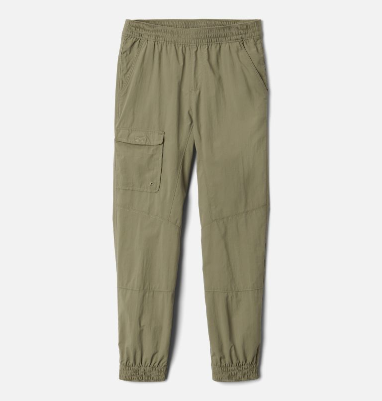Silver Ridge™ Pull-On Banded Pant | 397 | M Girls' Silver Ridge™ Pull-On Banded Pant, Stone Green, front