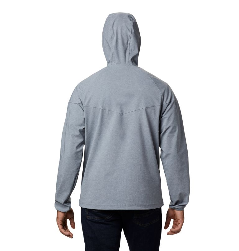 Heather Canyon™ Jacket | 021 | XL Men's Heather Canyon™ Softshell Jacket, Grey Ash Heather, back