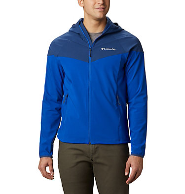 Men's Heather Canyon™ Softshell Jacket Heather Canyon™ Jacket | 316 | XXL, Azul, Carbon, front