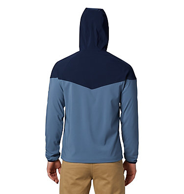 Men's Heather Canyon™ Softshell Jacket Heather Canyon™ Jacket | 316 | XXL, Mountain, Collegiate Navy, back
