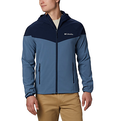 Men's Heather Canyon™ Softshell Jacket Heather Canyon™ Jacket | 316 | XXL, Mountain, Collegiate Navy, front