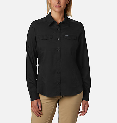 Women's Silver Ridge™ Lite Long Sleeve Silver Ridge™ Lite Long Sleeve Shirt | 472 | L, Black, front